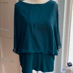Emerald green dressy blouse tunic
